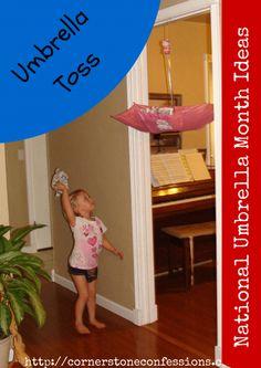 Nationa Umbrella Month Ideas--Umbrella Toss