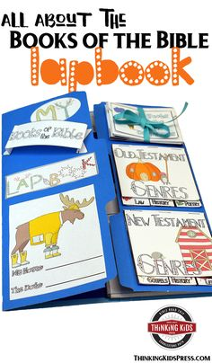 All About the Books of the Bible Lapbook  Teach your kids all about the books of the Bible with this fun lapbook. They'll learn the order, authors, genres, and themes of every book of the Bible! via @DanikaCooley