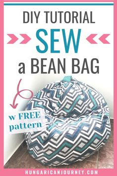 Turn Any Old Blanket Into a convertible Bean Bag Chair. Use this DIY bean bag chair tutorial to transforms old baby blankets and sheets into a fun sleepover item. Make A Bean Bag Chair, How To Make A Bean Bag, Big Bean Bag Chairs, Bean Bag Sewing Pattern, Bag Pattern Free, Bag Patterns To Sew, Sewing Patterns, Big Bean Bags, Giant Bean Bags