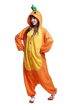 Introducing Honeystore Unisex Carrot Jumpsuit Cosplay Costume Pajama One Piece Loungewear M. Great Product and follow us to get more updates!