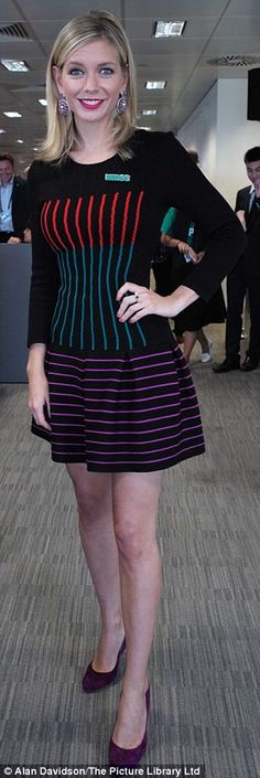 Office-chic: Rachel Stevens and Rachel Riley were both suitably styled in contrasting ense...
