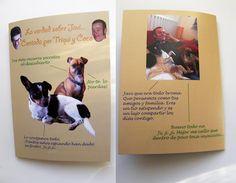 ¡¡Hola!! Seguro que sois muchos y muchas los que tenéis en casa un perro, o un gato o...Vuestras mascotas están presentes en muchos momentos de vuestras vidas. Momentos divertidos, peculiares, íntimos... ¿Os imagináis que un día se decidieran a contar todo lo que ven y oyen? Pues eso es lo que le ha pasado a Javi en su cuarenta cumpleaños. Books, To Tell, Forty Birthday, Funny Moments, Personalized Gifts, Past, Cat, Invitations, Livros