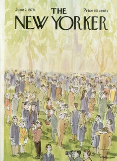 The New Yorker - Monday, June 2, 1975 - Issue # 2624 - Vol. 51 - N° 15 - Cover by : James Stevenson