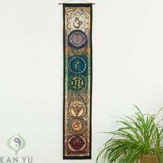 Wandbehang Kundalini mit 7 Chakras