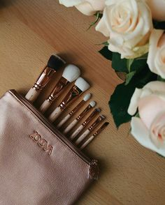 My new zoeva brushes rose golden #zoeva #zoevabrushes #zoevabrushesrosegolden