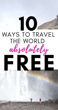 Learn to travel cheap and budget travel around the world for free. Travel tips on how to get free accommodations, travel more and save money on travel. Check out my complete list of ways you can travel the world for freethis year! Money saving tips and travel resources too! #budgettravel #freetravel #backpacking #howtosave #savemoneyontravel #travelcheap #cheaptravel #traveltheworld #travelhacks