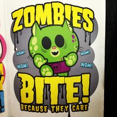 Zombies bite.... because they care :)