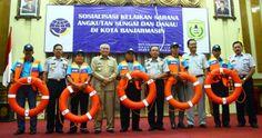 Dishub Kota Banjarmasin kembali melakukan sosialisasi kelaikan sarana angkutan sungai dan danau di K...