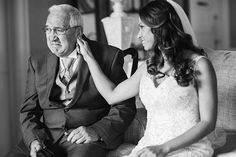 Bride comforts her Dad as he cries tears of joy on her wedding day | Tracey Buyce Photography
