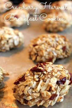 Cranberry Harvest Breakfast Cookies | 28 Easy And Healthy Breakfasts You Can Eat On The Go