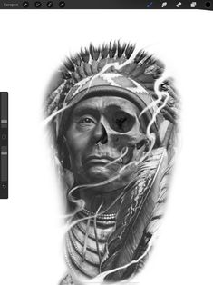 American Indian Quotes, Native American, Rose Tattoos For Men, Tattoos For Guys, Sad Angel, Tatuajes Tattoos, Aztec Warrior, Aztec Art, Native Indian