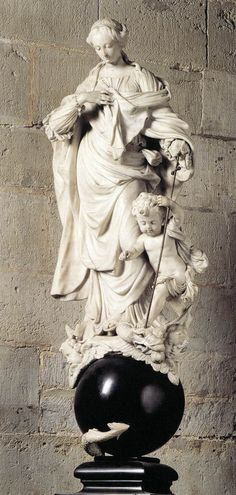 Virgin of the Immaculate Conception 1695. Sculpture, White and black marble 112 cm. Artus Quellinus 1625/1700. Cathedral of Our Lady - Antwerp
