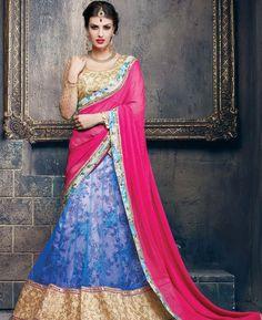 Buy Fascinating Blue Lehenga Choli online at  https://www.a1designerwear.com/fascinating-blue-lehenga-choli-6  Price: $94.50 USD