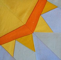 Sun paper piecing quilt block. If I ever do another block exchange, I want to receive sunshines!