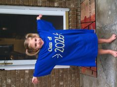 Mary's 1st day of Preschool - Class of 2026.  Wear every year until graduation day.  Clever idea.
