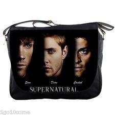 Supernatural Black Messenger Bag Sam Dean Castiel Notebook Laptop School Sling