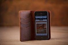 Artisan iPhone Wallet Case | Genuine Vintage Leather.