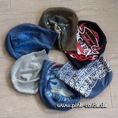 DIY TShirt Beanie - Upcycling Idee | diy tshirt beanie - upcycling idea | visit me @pink-castle.de #pinkcastlediy