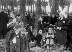 Birkenau, Poland, May 1944, Jews waiting in a grove near gas chamber IV in Auschwitz