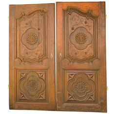 Pair of Hand Carved Doors. French. Louis XV. hand carved walnut. Good condition. c1850