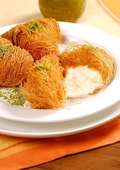 With crispy toasted noodles, ashta cream and sweet syrup, Osmalieh bel Ashta is a luscious Lebanese treat worth trying at @Mandy Dewey Seasons Hotel Beirut