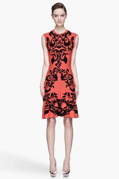 MCQ ALEXANDER MCQUEEN Poppy red and black knit Flirty Dress McQ by Alexander McQueen