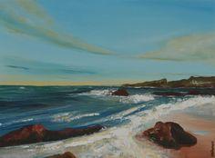 Hopeman East Study I Scottish seascape Original by Moodlandscapes, £90.00