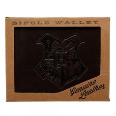 Harry Potter Genuine Leather Bi-Fold Men Gentlemen Wallet Bioworld New Harry Potter Style, Harry Potter Hogwarts, Hogwarts Crest, Leather Bifold Wallet, Graduation Gifts, Nerdy, Best Gifts, Geek Stuff, Wallets