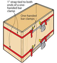 This is a great idea when you don't have enough band clamps or extra hands to hold your project together. This tip is going to serve me well in the future!!.......D.