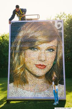 Taylor Swift's Lego portrait is the best thing you'll see today