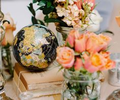 A vintage tabletop | Event: Winsor Event Studio. Photo by 12-1 Photography.