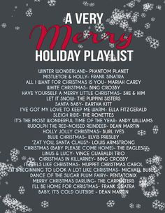 A Very Merry Holiday Playlist - Yankee SmartassYankee Smartass