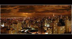 A visão de São Paulo a noite
