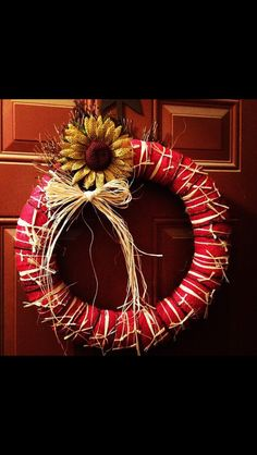 Country inspired wreath