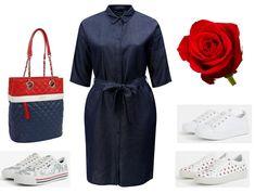 riflove saty pre moletky, dzinsové šaty pre moletky, letné šaty pre moletky, outfity, oblečenie pre plnoštíhle Outfit, Polyvore, Fashion, Dress, Outfits, Moda, Fashion Styles, Fasion, Kleding