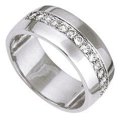 Bague de Mariage pour Femme Or Blanc Diamants - Bijoux Femme - Princesse Diamants http://www.princessediamants.com/article-alliance-femme-or-blanc-diamants-0-25-ct-337.htm
