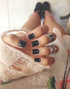 black nails are my favorite
