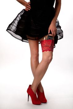 Girly Go Garters!  Never carry a purse again!  Available in multiple colors at www.ladedatoo.com