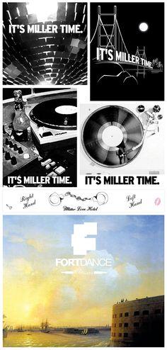 MILLER. Promo, print design.