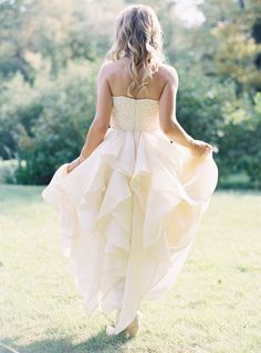 This dress is everything: http://www.stylemepretty.com/2015/03/23/green-gables-whimsical-outdoor-wedding/ | Photography: Joey Kennedy - http://joeykennedyphotography.com/