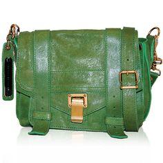 Proenza Schouler Green PS1 Mini Messenger  http://www.consignofthetimes.com/product_details.asp?galleryid=6466