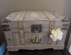 Vintage Wedding Card Box Extra Large Rustic by AnArtsyAffair, $79.99
