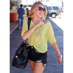 Fashion For > Miley Cyrus Style 2012 ❤ liked on Polyvore featuring miley cyrus, pics, miley and outfit
