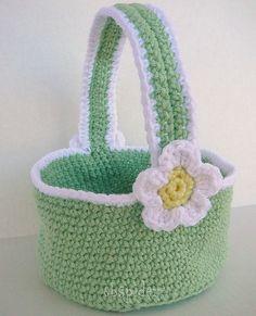 Spring Green Easter Basket