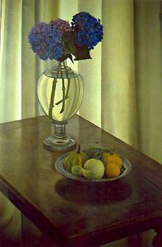 """""""Hortensia azul"""" (1986). Claudio Bravo (Chile, 1936-Marruecos, 2011)."""