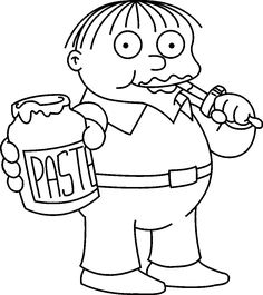 awesome the Simpsons coloring pages for girls and boys Ralf Wigam