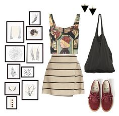 """""""Let's head to the art exhibitions!"""" by entipuf ❤ liked on Polyvore featuring MSGM, Simon Miller, ASOS, Vans, Laneus, Pottery Barn and Nika"""
