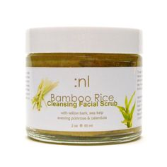 Bamboo+Rice+Organic+Facial+Scrub++with+Willow+Bark+by+Naturallogic,+$10.00