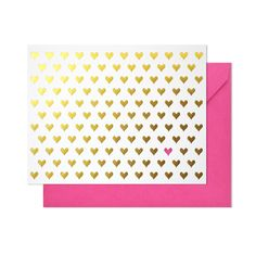 Notecard Set - Gold Hearts #valentine