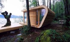 small lake cabin http://cabinporn.com/post/85891561/funky-200-sq-ft-cabin